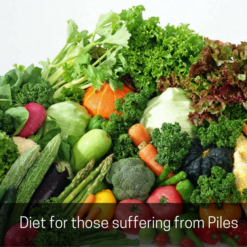 diet those suffering from piles